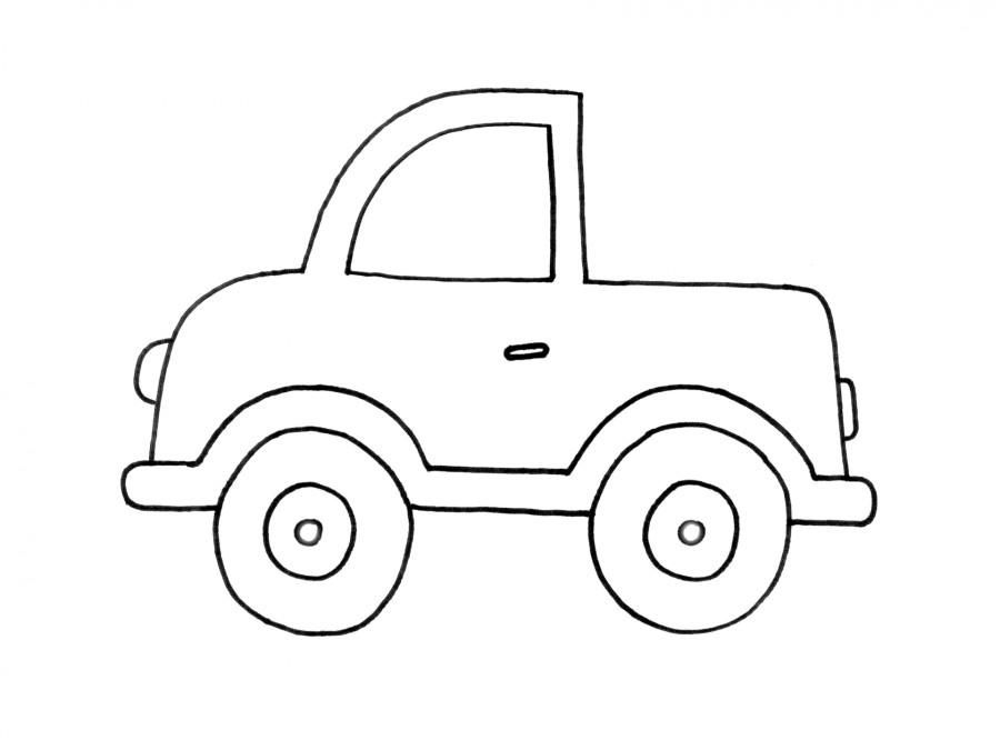 tranh tô màu ô tô bán tải 02