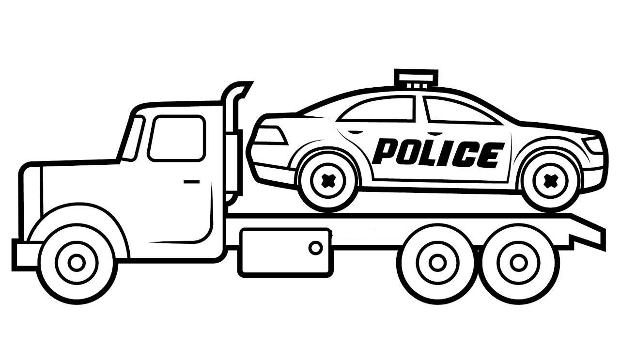 tranh tô màu xe cứu hộ