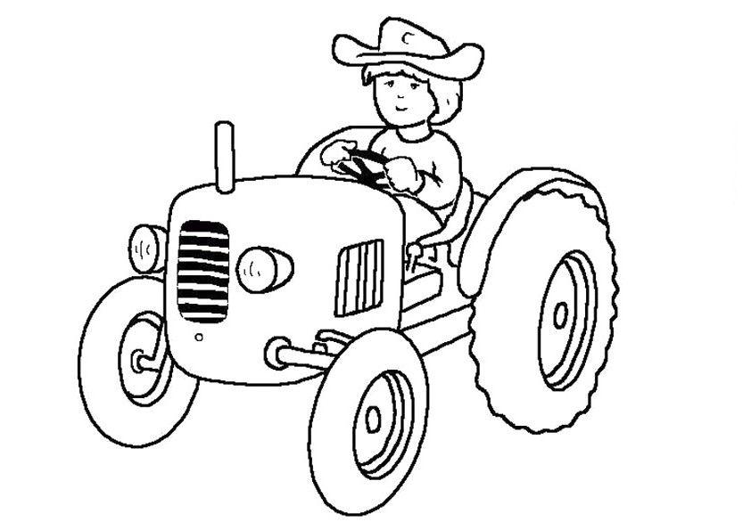 tranh tô màu xe máy kéo