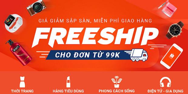 shopee miễn phí vận chuyển