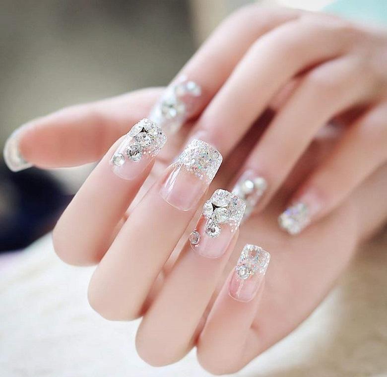 mẫu nail đẹp cho cô dâu trong ngày cưới 02