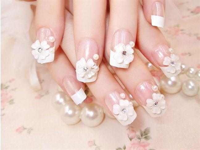 mẫu nail đẹp cho cô dâu trong ngày cưới 04
