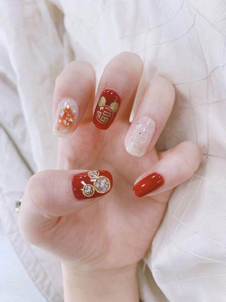 mẫu nail đẹp cho dịp tết 01