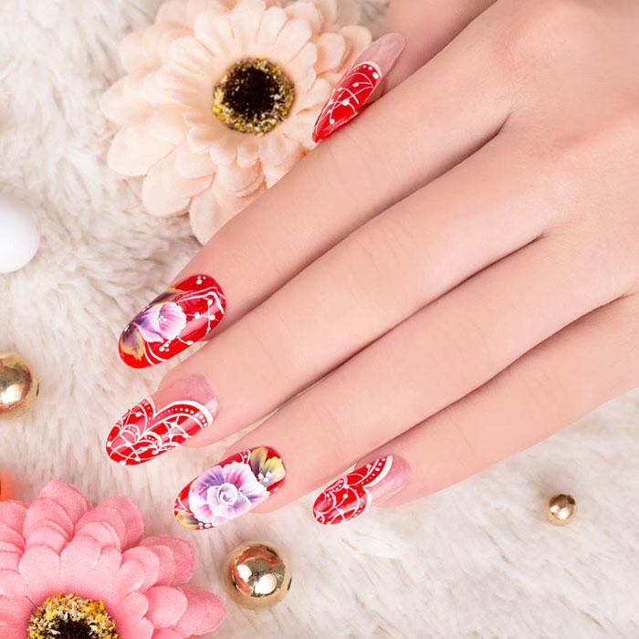 mẫu nail đẹp cho dịp tết 09