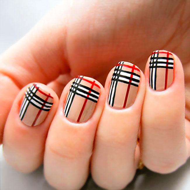 mẫu nail đẹp kẻ sọc 03