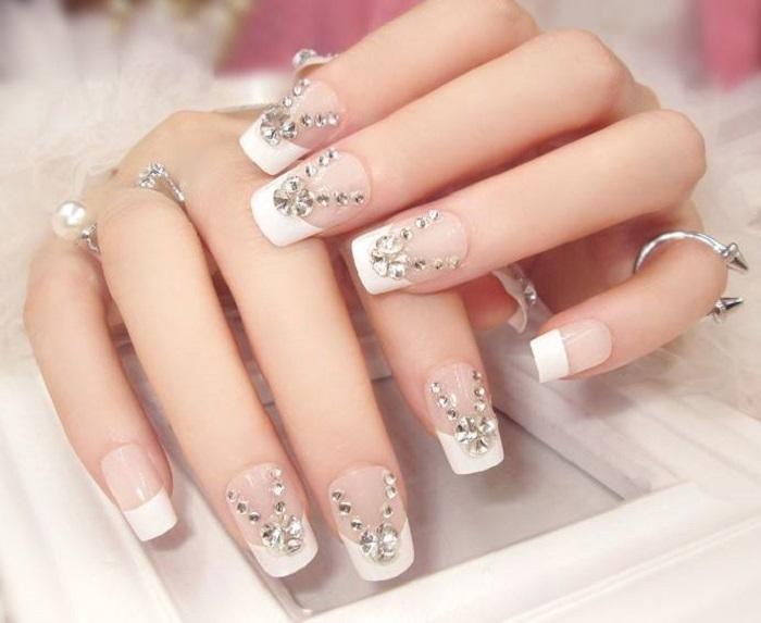 mẫu nail đính đá đẹp nhất 01