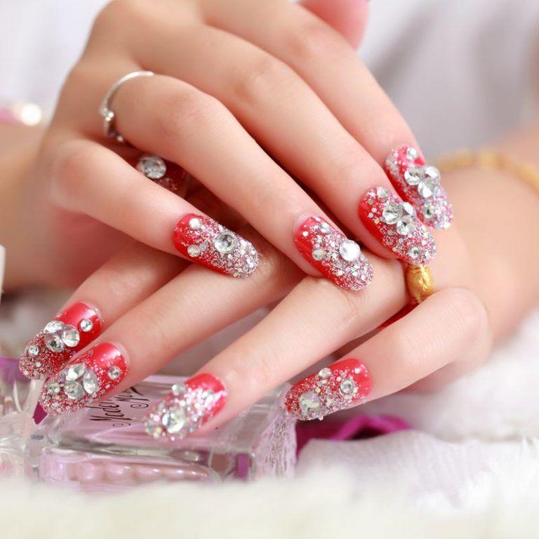 mẫu nail đính đá đẹp nhất 02
