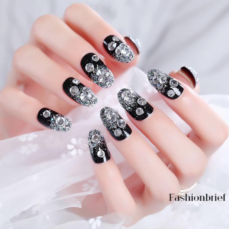 mẫu nail đính đá đẹp nhất 03