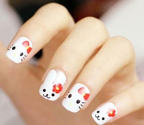 Mẫu nail động vật dễ thương nhất 01