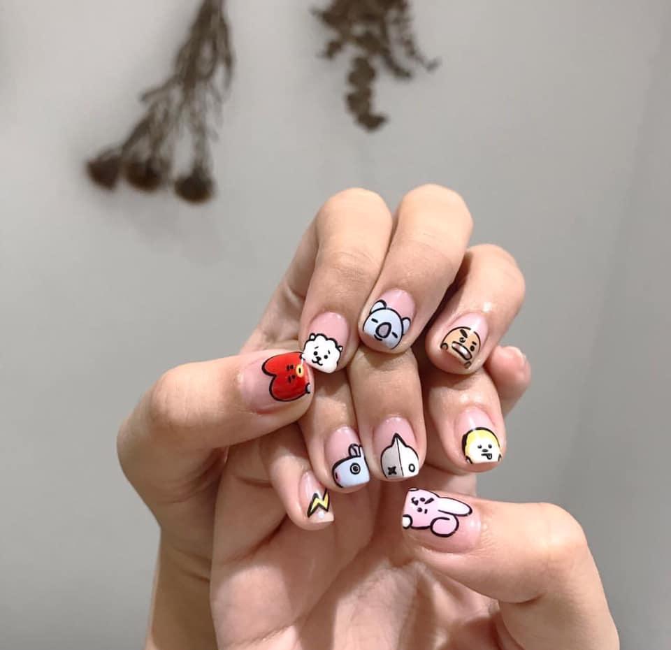Mẫu nail động vật dễ thương nhất 04