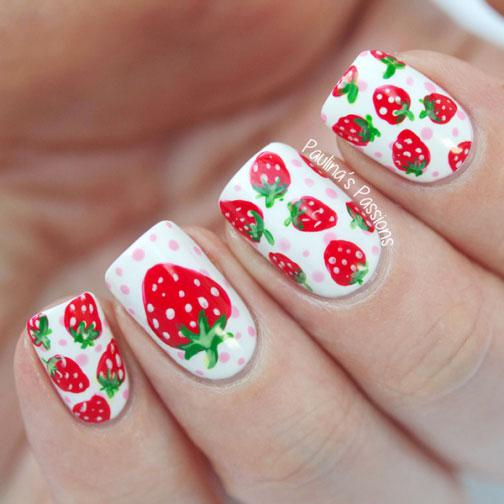 Mẫu nail hoa quả ấn tượng nhất 04