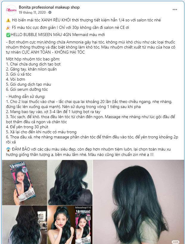 mẫu bài viết quảng cáo hay về sản phẩm tóc