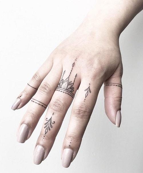 Hình xăm ngón tay nữ đẹp 011