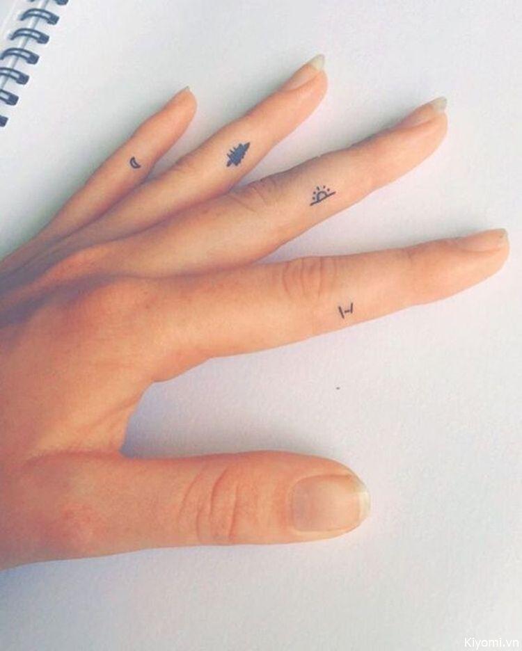 Hình xăm ngón tay nữ đẹp 012