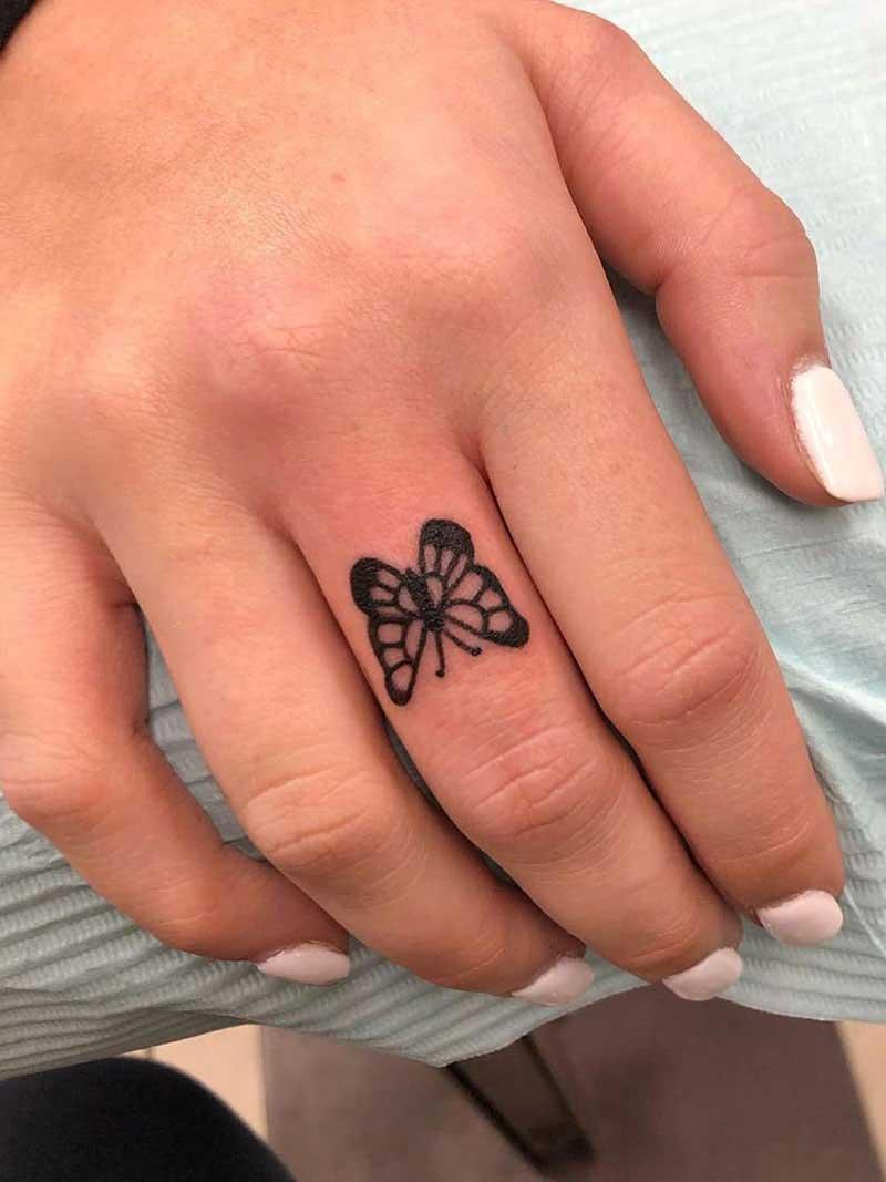 Hình xăm ngón tay nữ đẹp 028