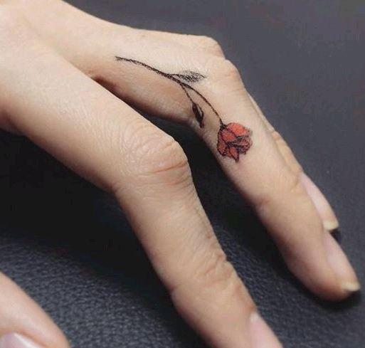 Hình xăm ngón tay nữ đẹp 020