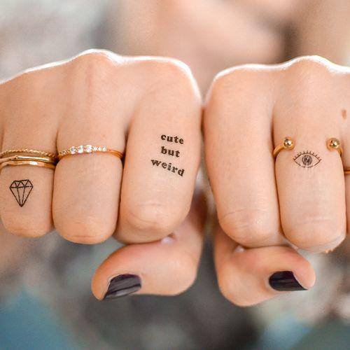 Hình xăm ngón tay nữ đẹp 024