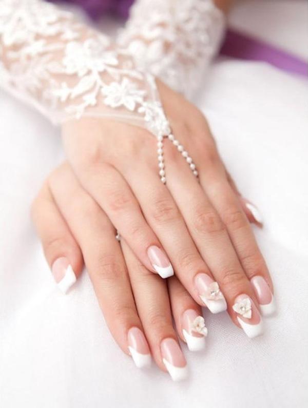 Mẫu nail cô dâu đơn giản 05
