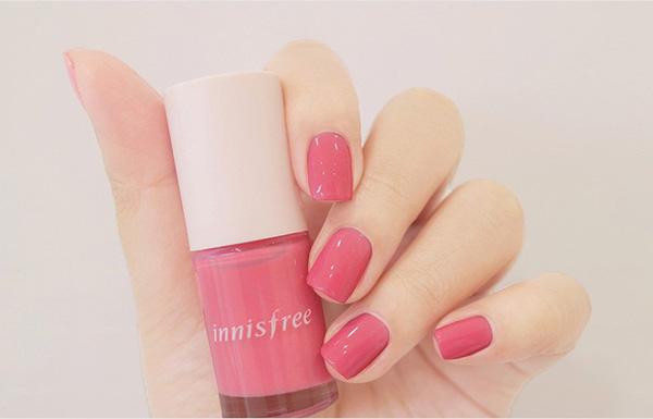 Mẫu nail cô dâu màu hồng 02