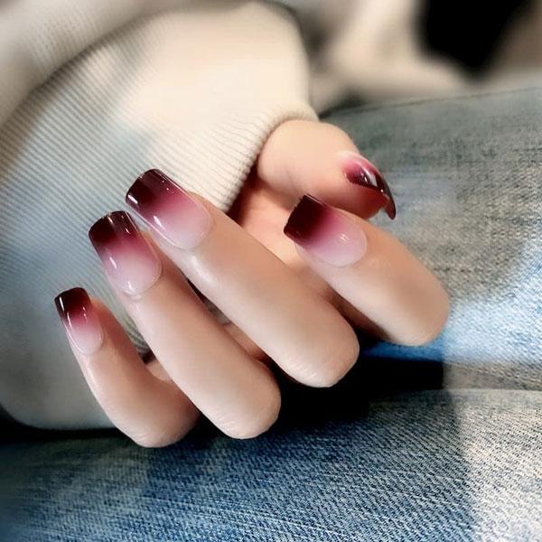 Mẫu nail cô dâu ombre 01