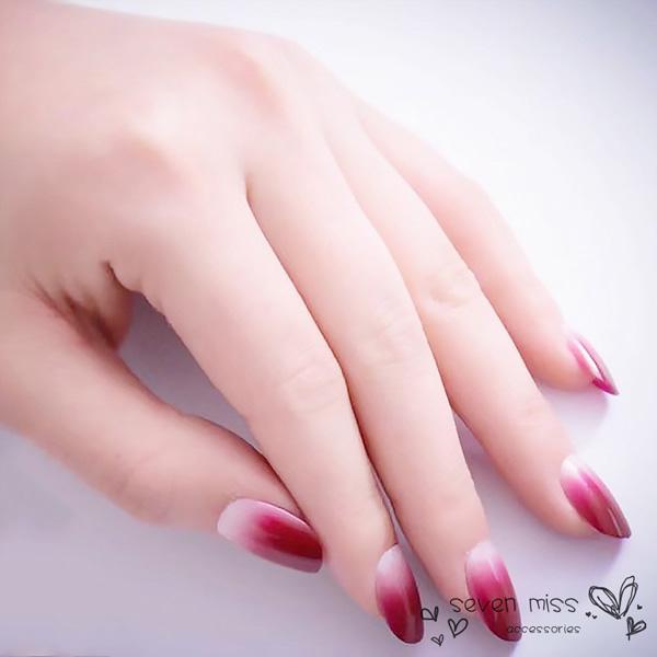 Mẫu nail cô dâu ombre 03