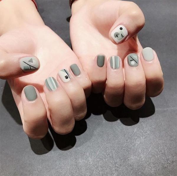mẫu nail đẹp cho học sinh, sinh viên 012