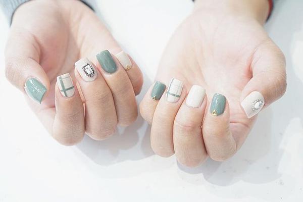 mẫu nail đẹp cho học sinh, sinh viên 014