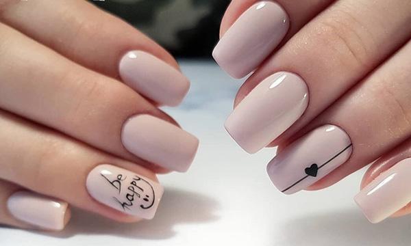 mẫu nail đẹp cho học sinh, sinh viên 025