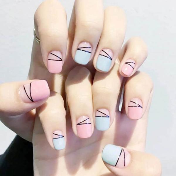 mẫu nail đẹp cho học sinh, sinh viên 028
