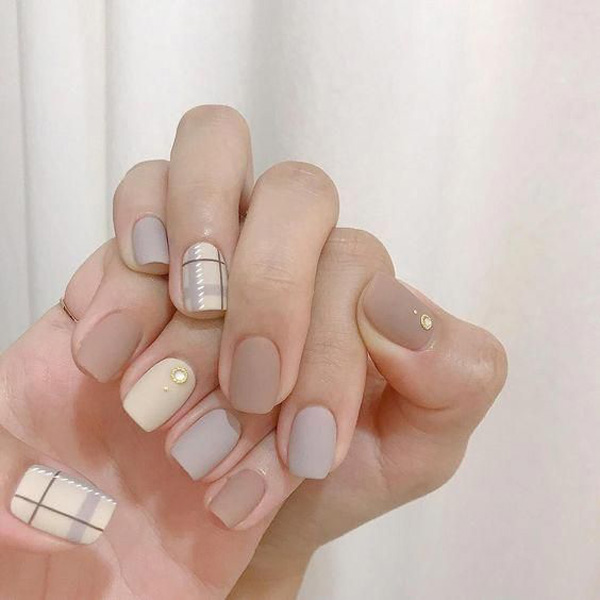 mẫu nail đẹp cho học sinh, sinh viên 005