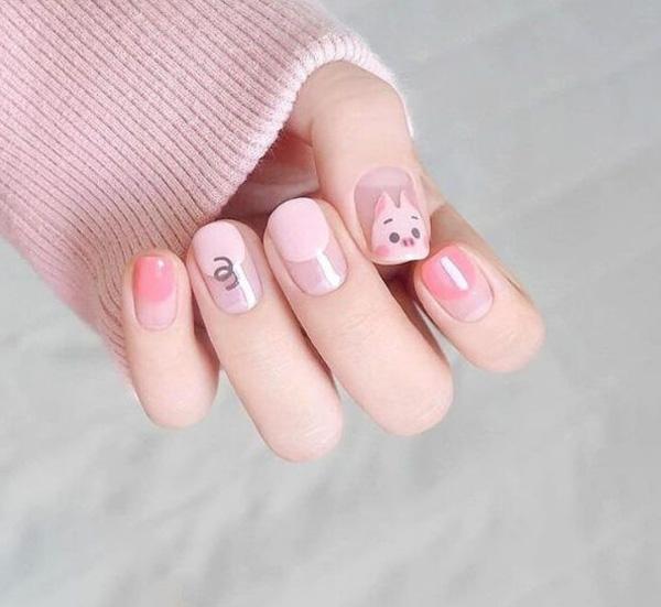 mẫu nail đẹp cho học sinh, sinh viên 006