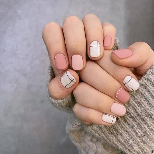 mẫu nail đẹp cho học sinh, sinh viên 007