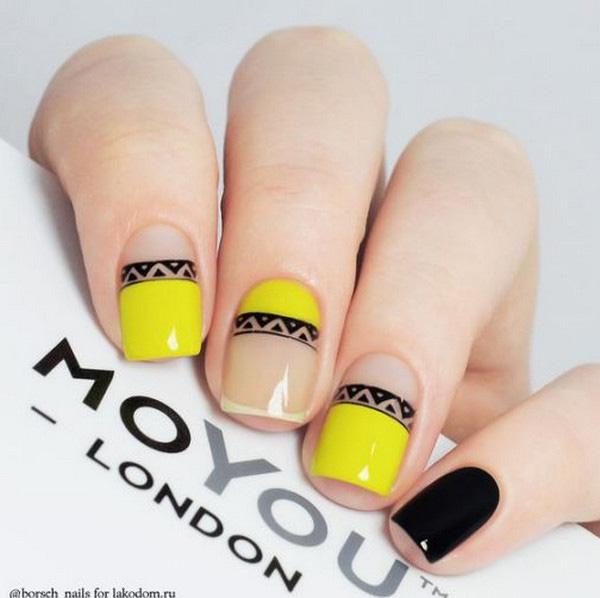 Mẫu nail màu vàng HOT Trend 01