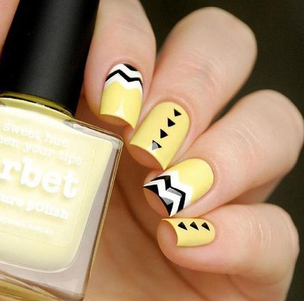 Mẫu nail màu vàng HOT Trend 02