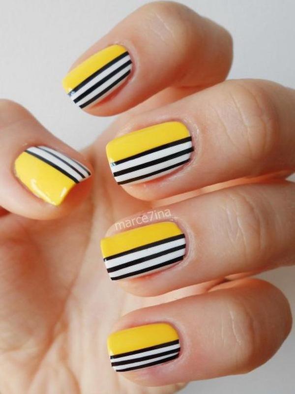 Mẫu nail màu vàng HOT Trend 03