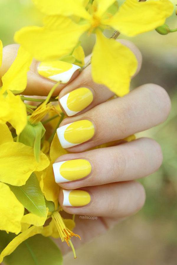 Mẫu nail màu vàng HOT Trend 04