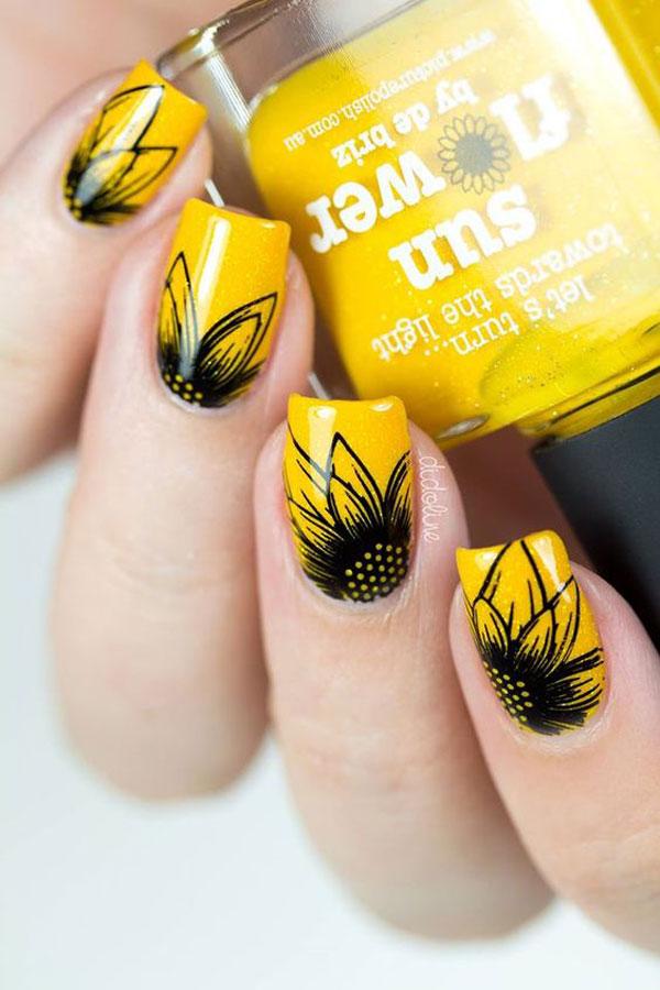 Mẫu nail màu vàng HOT Trend 05