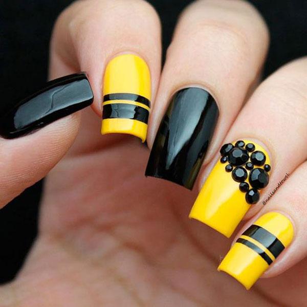 Mẫu nail màu vàng HOT Trend 06