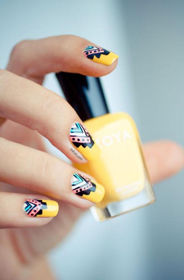 Mẫu nail màu vàng HOT Trend 07