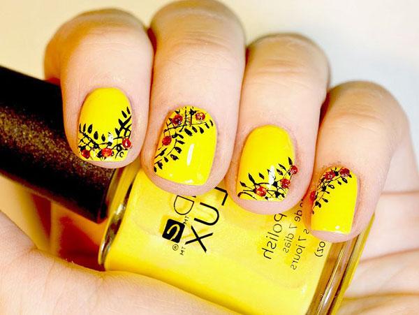 Mẫu nail màu vàng HOT Trend 08