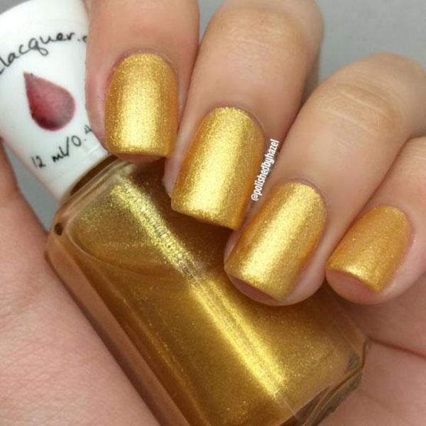 Nail màu vàng ánh kim 02