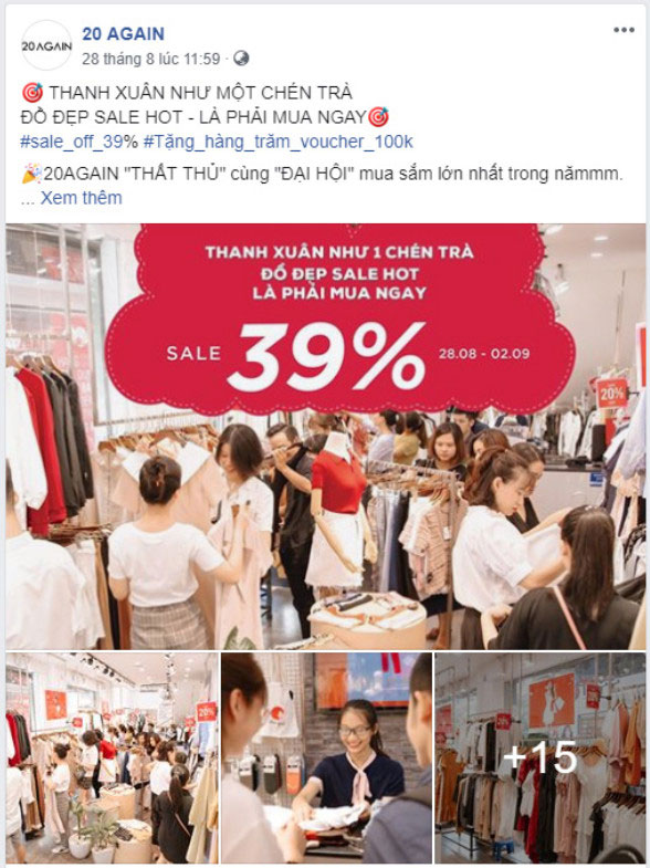 mẫu stt | content bán quần áo hay 015