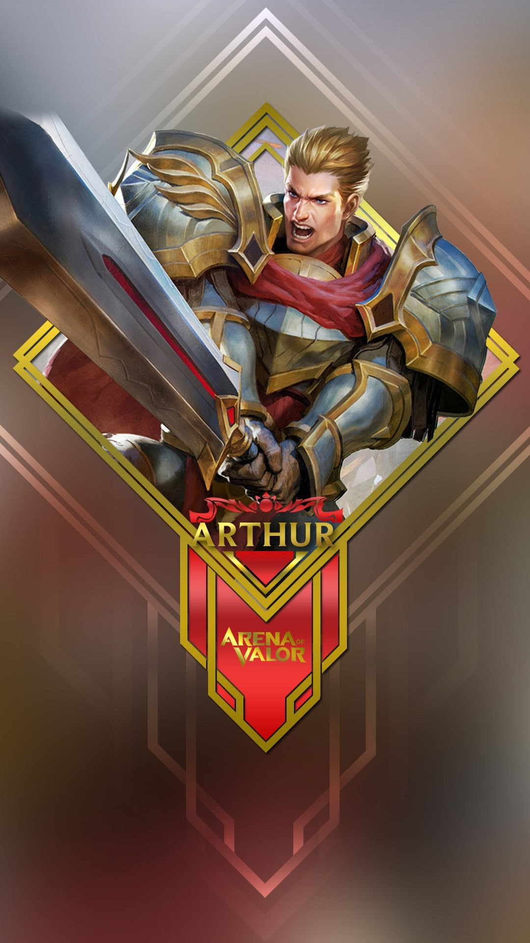 Hình nền liên quân Mobile cho điện thoại - Tướng Arthur
