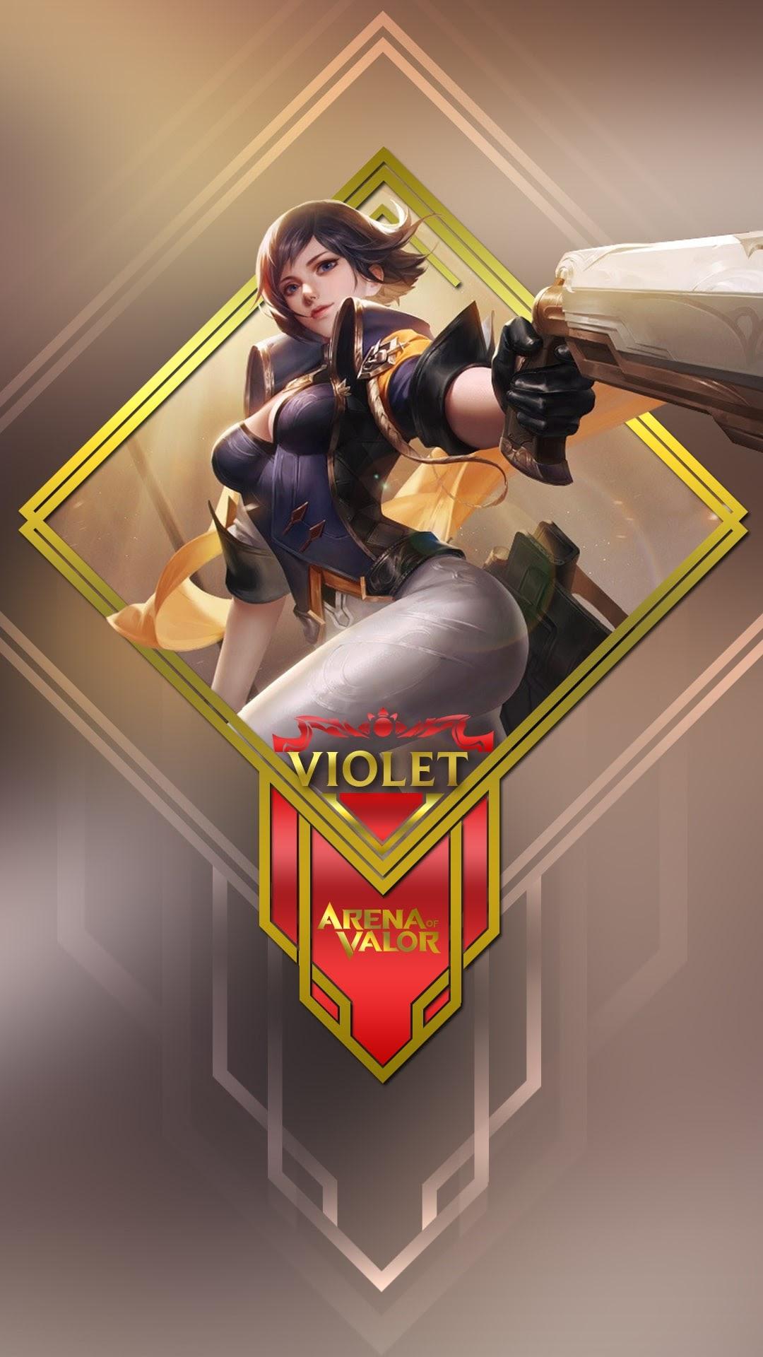 Hình nền liên quân Mobile cho điện thoại - Tướng Violet