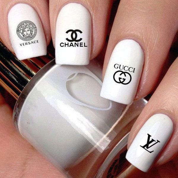 mẫu nail gucci đẹp sang chảnh 020