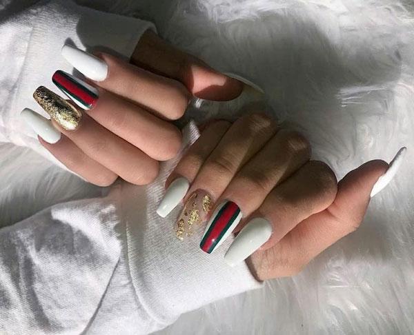 mẫu nail gucci đẹp sang chảnh 026