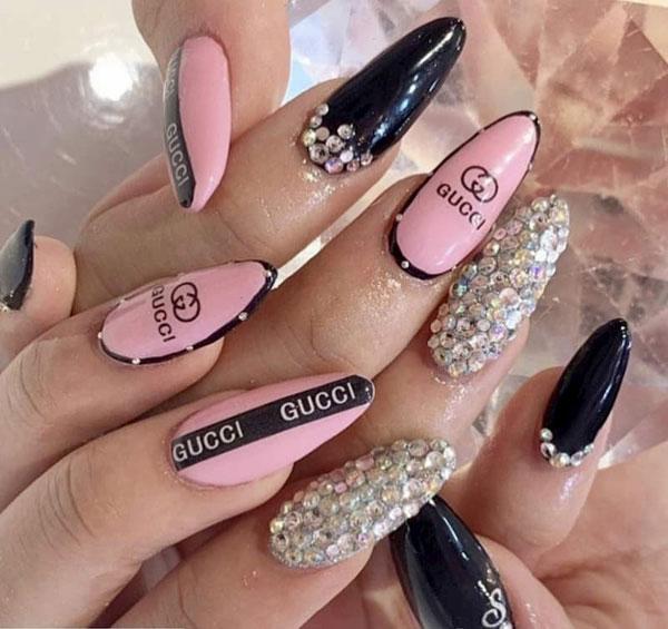 mẫu nail gucci đẹp sang chảnh 029
