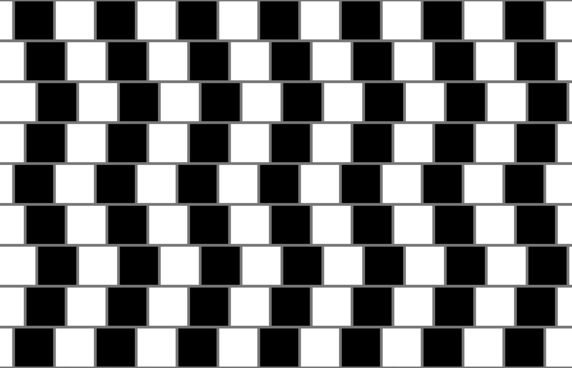 hình ảnh gây ảo giác - Café wall illusion