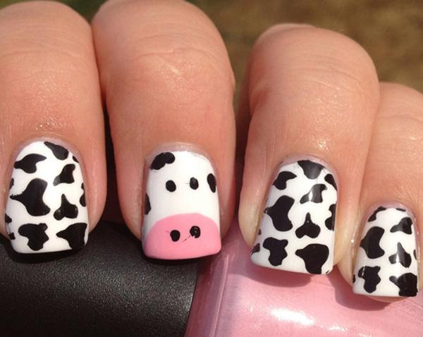 Mẫu nail bò sữa dễ thương nhất 03