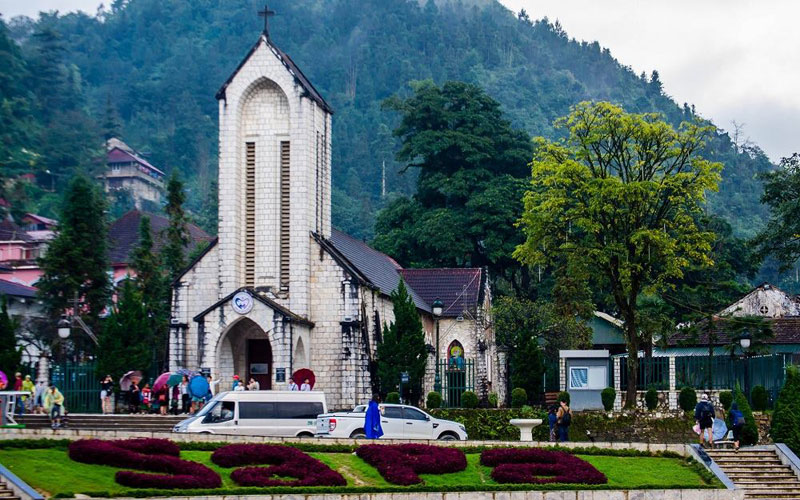 hình ảnh sapa - nhà thờ cổ